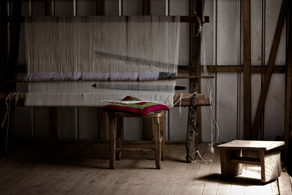 Traditional Mapuche Loom used to Weave VOZ Garments