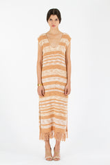 Gradient fringe dress