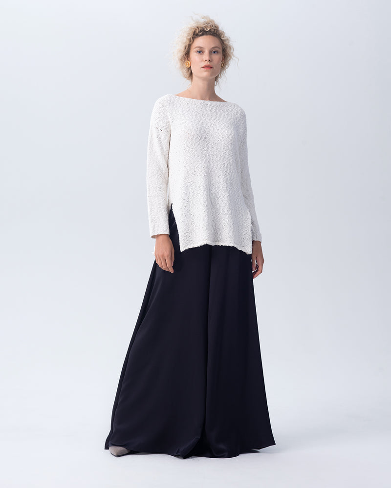 Cotton Flamé Relaxed Sweater