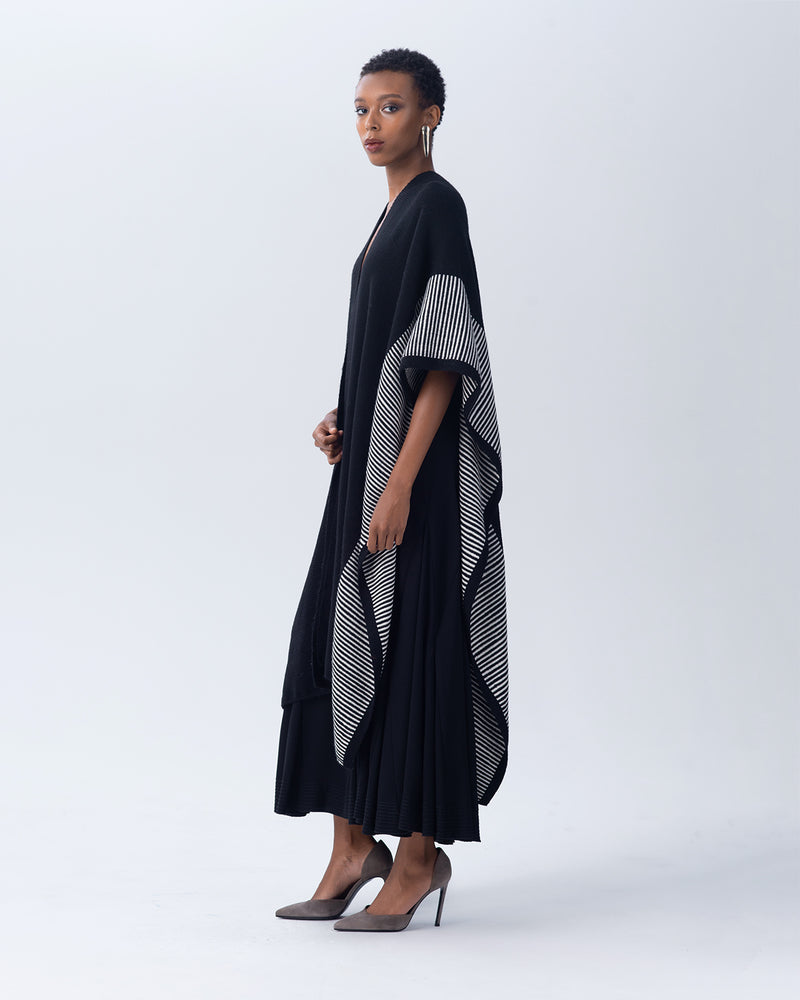 Striped Edge Long Duster