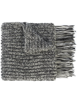 Knit Scarf with Fringe