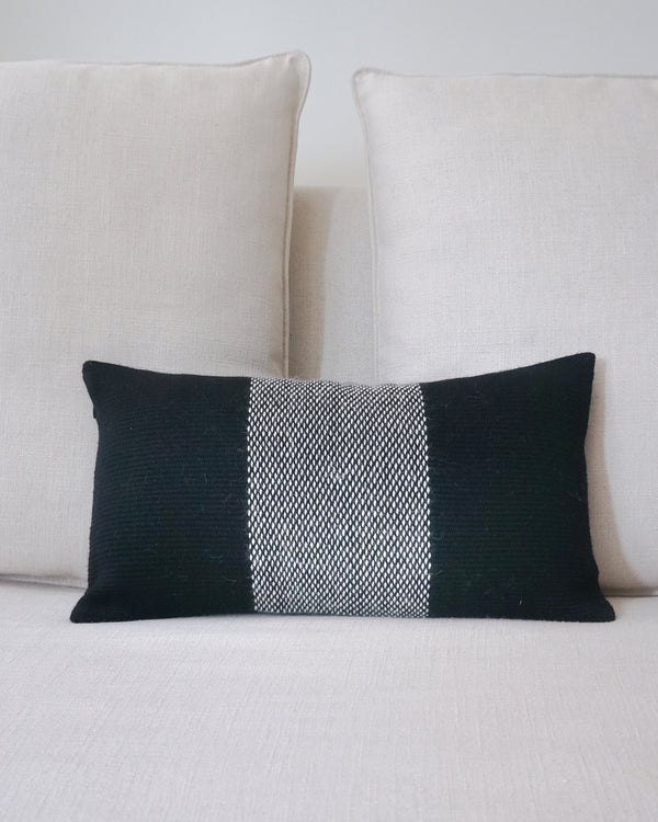 "Center Stripe Lumbar Pillow 11"" X 20"""