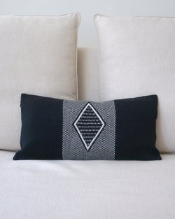 Diamante Lumbar Pillow in Black