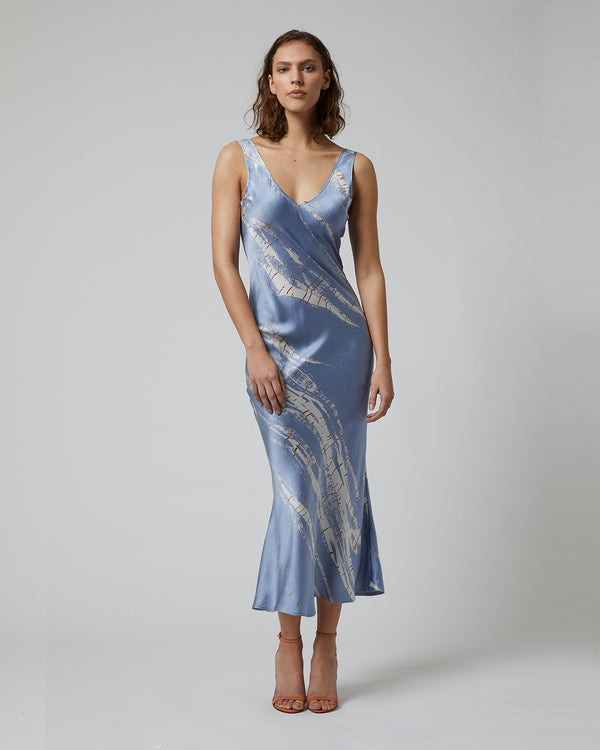 Double V Tie Dye Dress