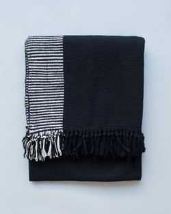 Duna Blanket in Black and White