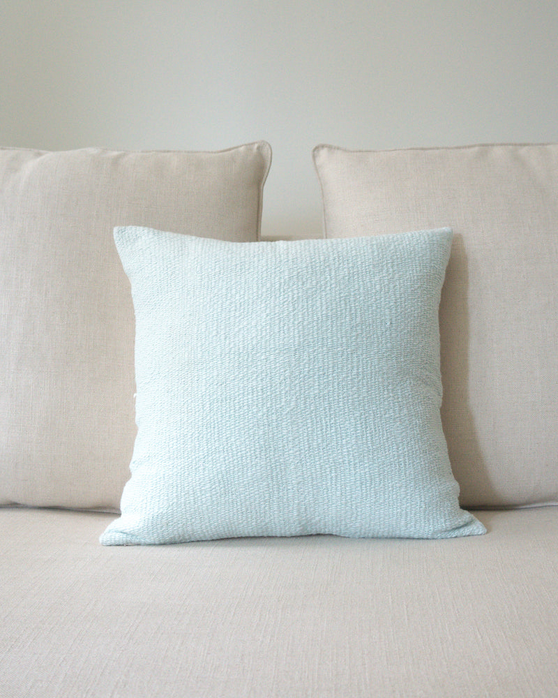 Flamme Euro Pillow in Baby Blue