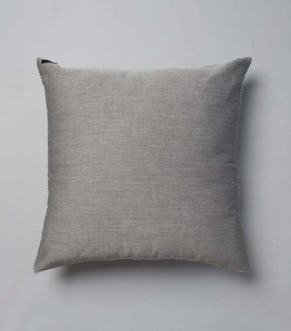 Lineas Euro Pillow in Ivory and Light Grey