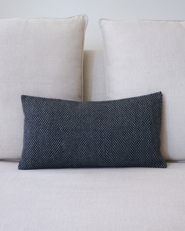 Lineas Lumbar Pillow in Charcoal/Grey