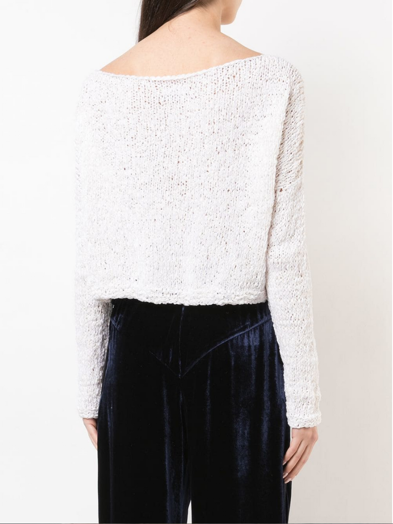 Twist Cropped Sweater