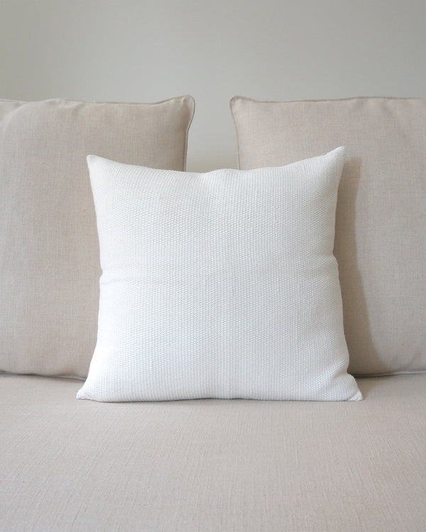 "Solid Cotton Euro Pillow in Ivory 20"" by 20"""