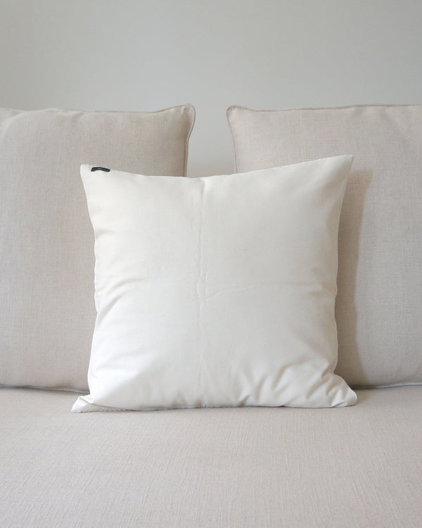 Solid Cotton Euro Pillow in Ivory
