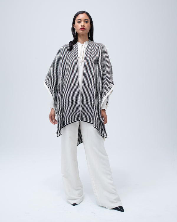 Full Striped Merino Duster