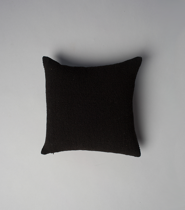 Solid Square Small Pillow in Black