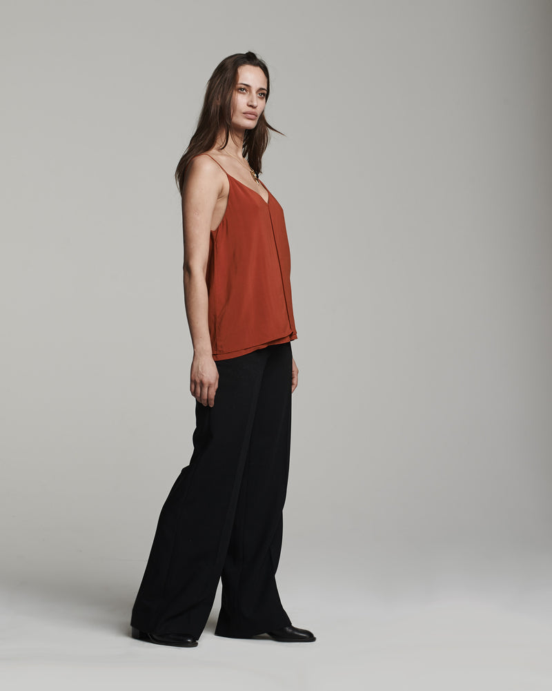 Double Layer Cami Tank in Rust (side)