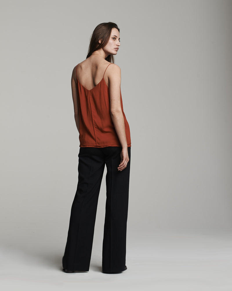 Double Layer Cami Tank in Rust (back)