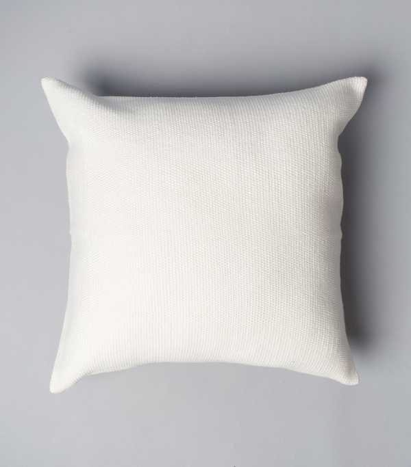 "Solid Euro Pillow in Ivory 20"" by 20"""