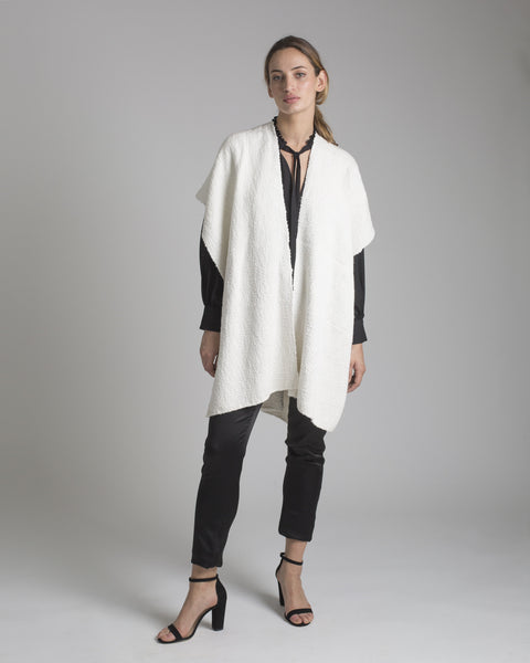 Short Flammé Duster - Ivory