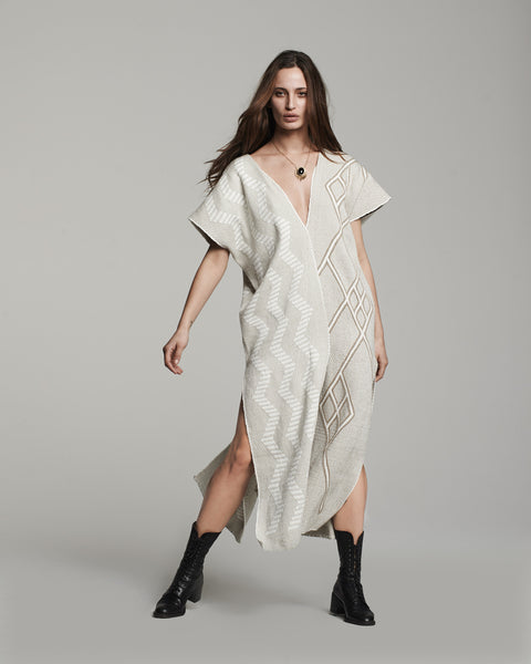 Textile Two-Panel Dress