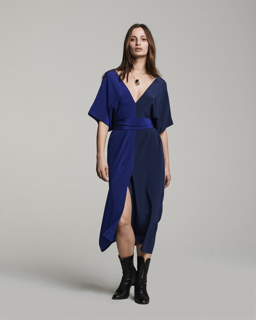 Two-Panel Dress - Cobalt