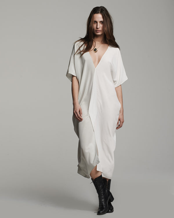 Silk Two-Panel Dress - Ivory