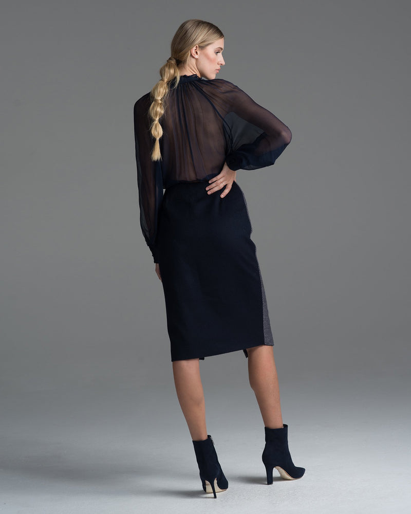 Arrow Wrap Pencil Skirt