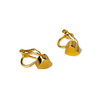 Ava Heart Clip Earrings (Gold, Silver and Rose Gold)