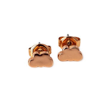 Chloe Cloud Pierced Stud Earrings (Gold, Silver and Rose Gold)