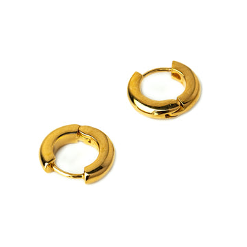 Lovey Huggie Mini Hoop Pierced Earrings (Gold, Silver and Rose Gold)