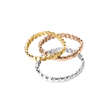 Max Metal Gem Stretch Bracelet (Gold, Silver, Rose Gold and Multi Metal)