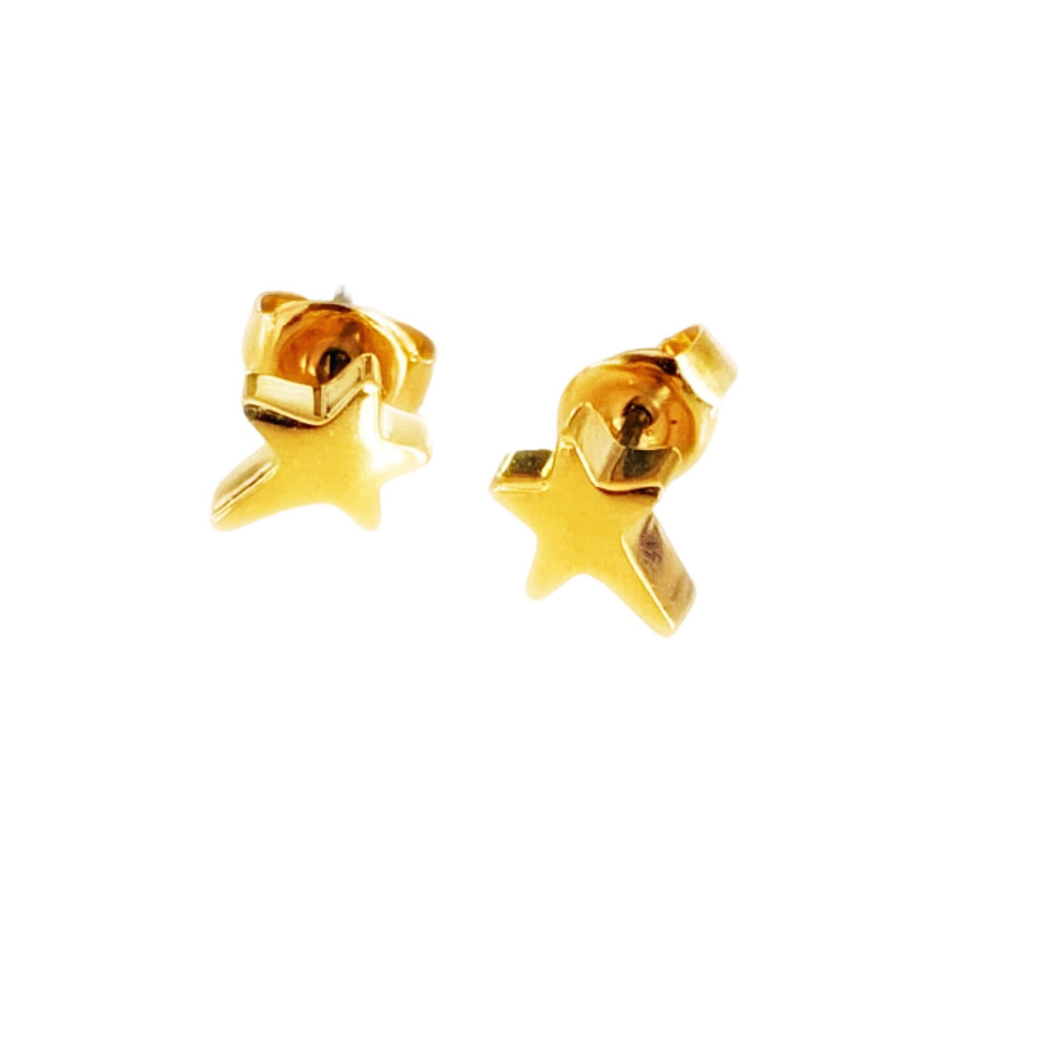 Shana Mini Star Pierced Stud Earrings (Gold, Silver and Rose Gold)