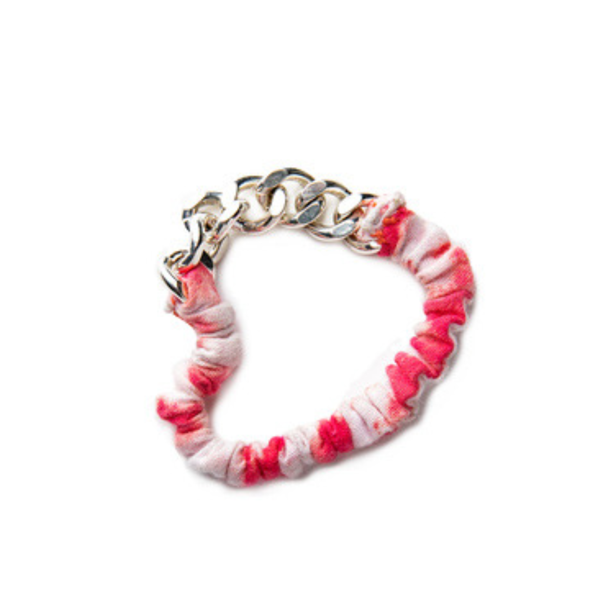 Lulu Metal Chain and Elastic Scrunchie Bracelet