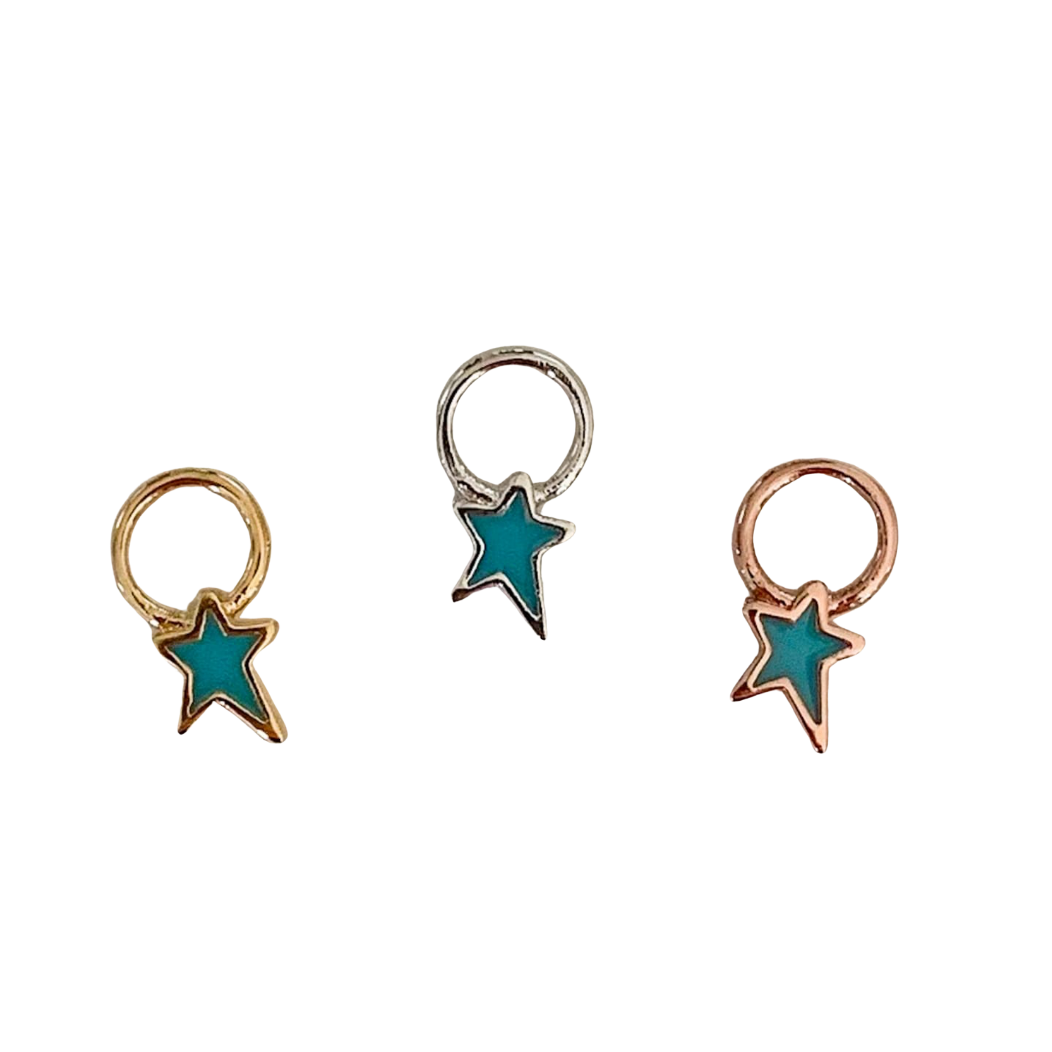 Shana Star Charm (Gold, Silver and Rose Gold)