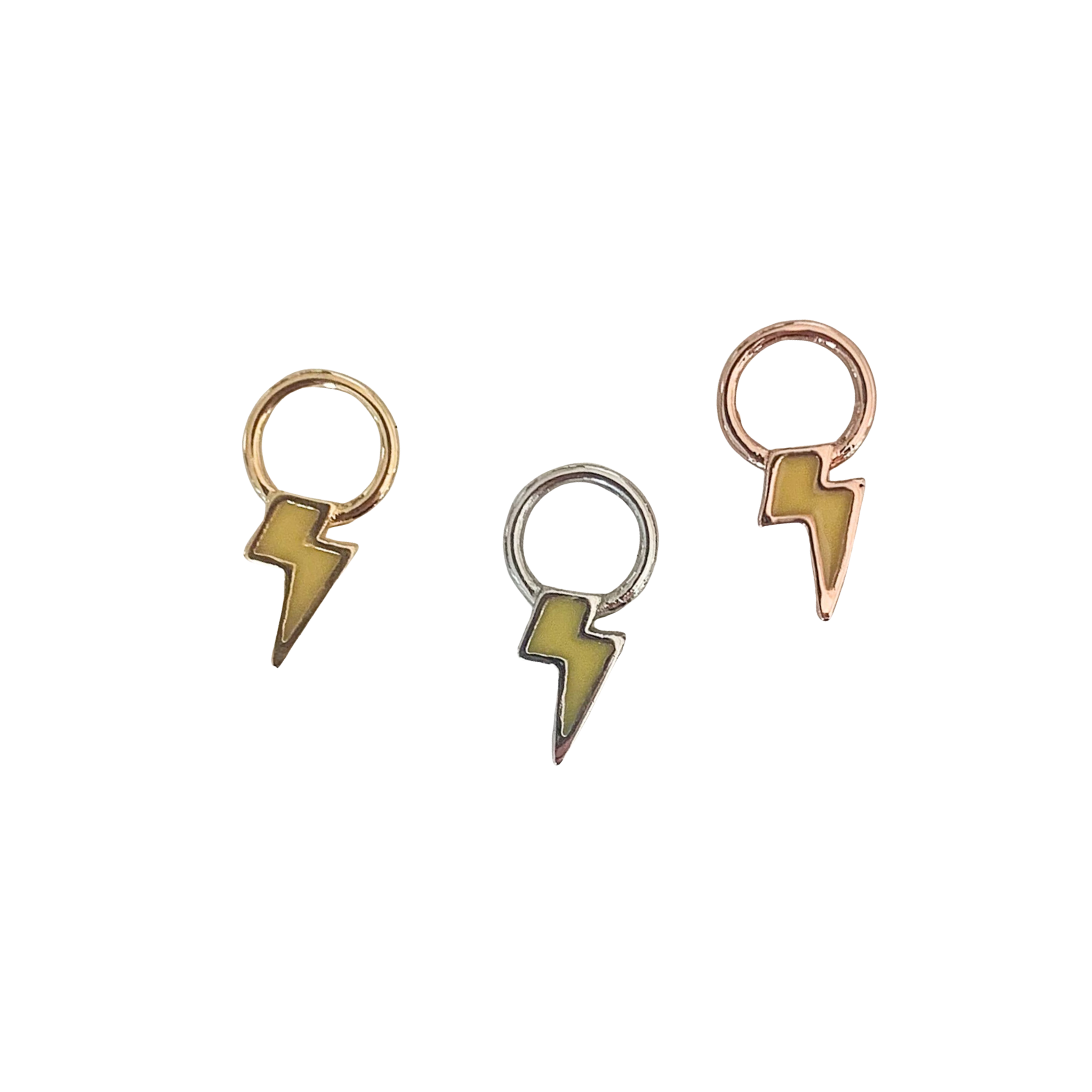 Emme Lighting Bolt Charm (Gold, Silver and Rose Gold)