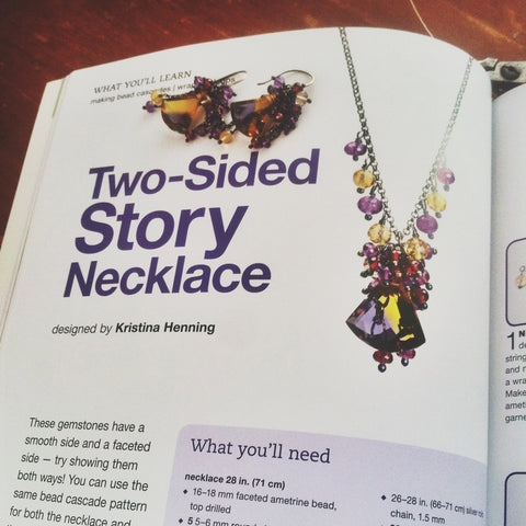 Two Sided Story necklace and earrings project by Kristina Henning