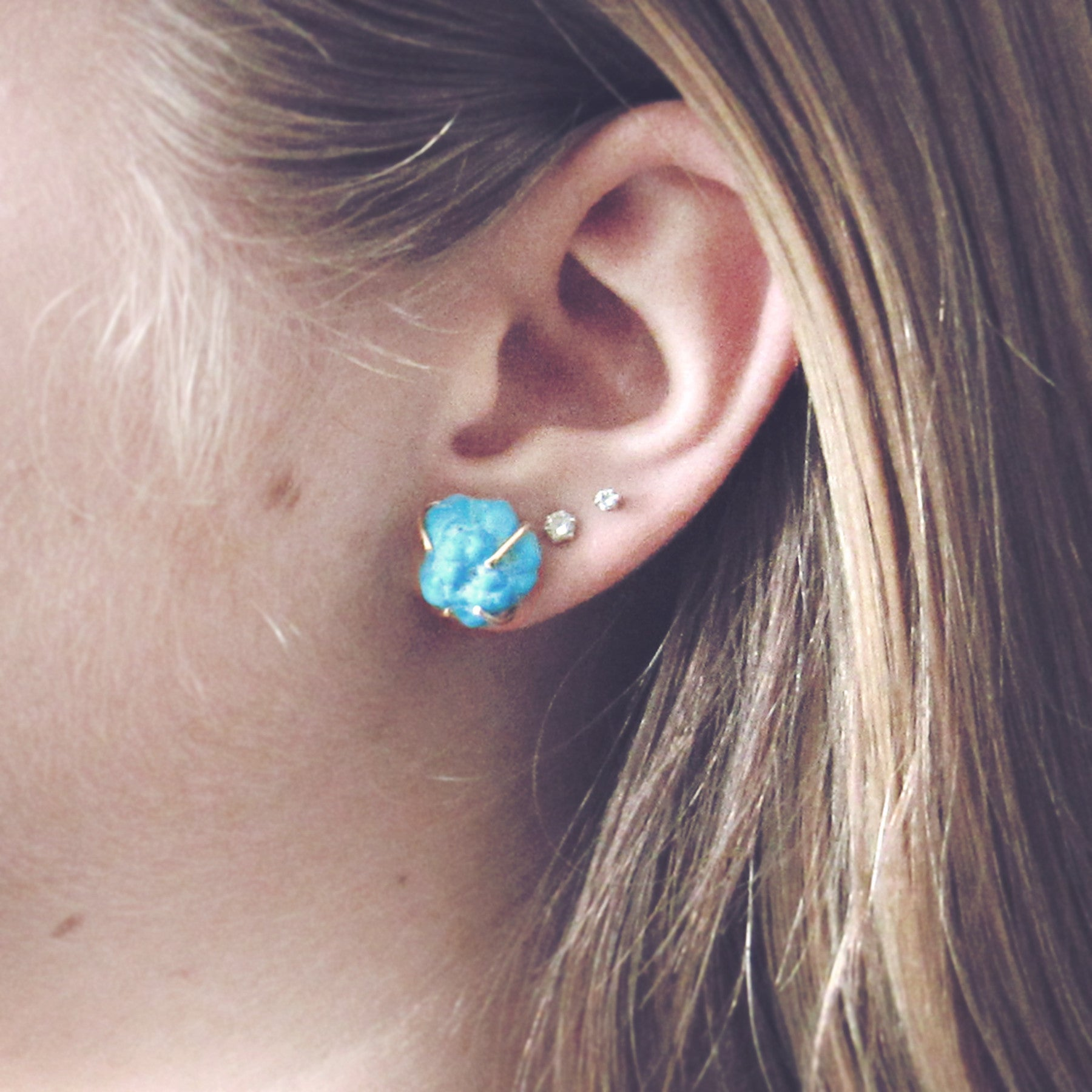 stud gold turquoise henning products kristina earrings