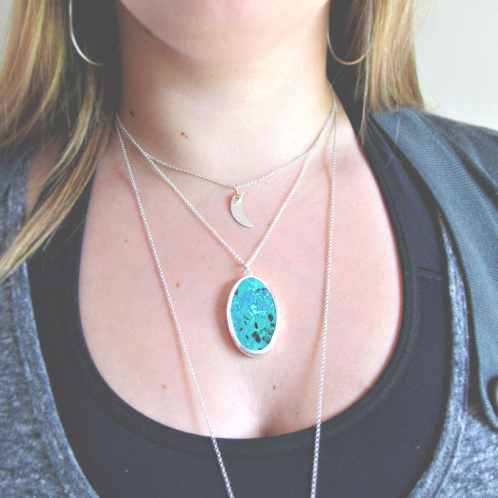 Malachite & Sterling Silver Necklace