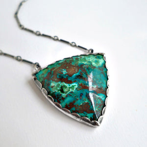 Chrysocolla Triangle Necklace