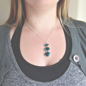 Chrysocolla & Silver Necklace