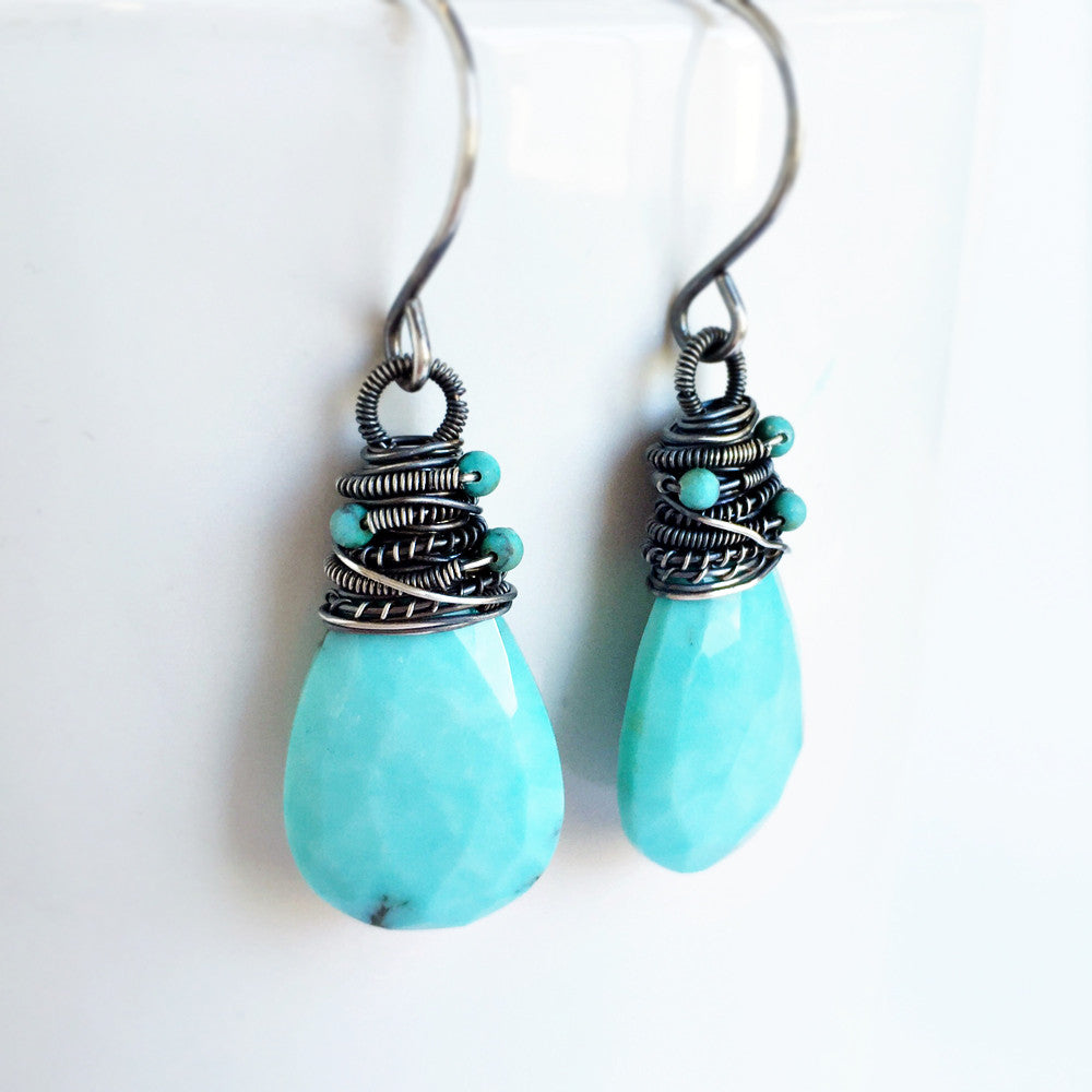 Avril Earrings - Turquoise & Silver