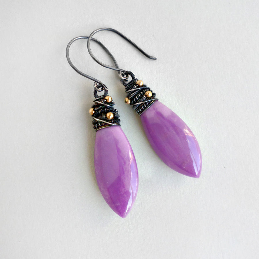 Purple Peyton Earrings