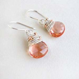 Peach Adelyn Earrings