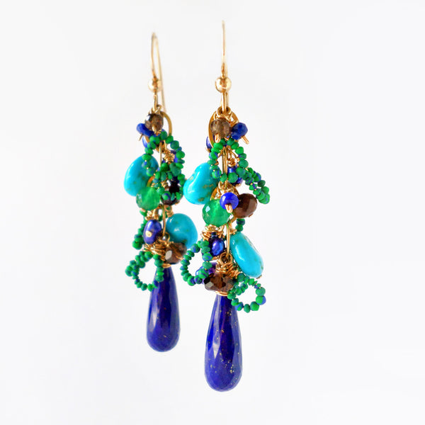 Mila Earrings with Lapis