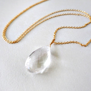 Quartz & Gold Necklace