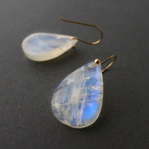 rainbow moonstone earrings with gold