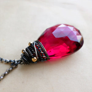Avril Necklace with Red Quartz