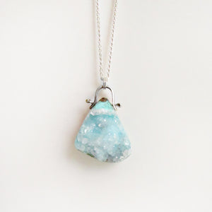Chrysocolla Druzy Necklace