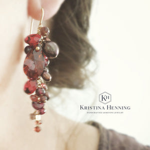 Red Everly Earrings