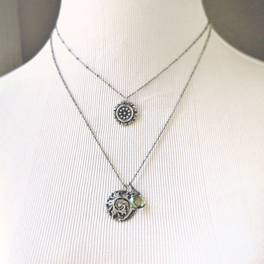 Floriana Necklace with Green Amethyst