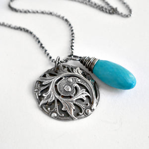 Floriana Necklace with Turquoise