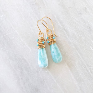 Larimar Peyton Earrings